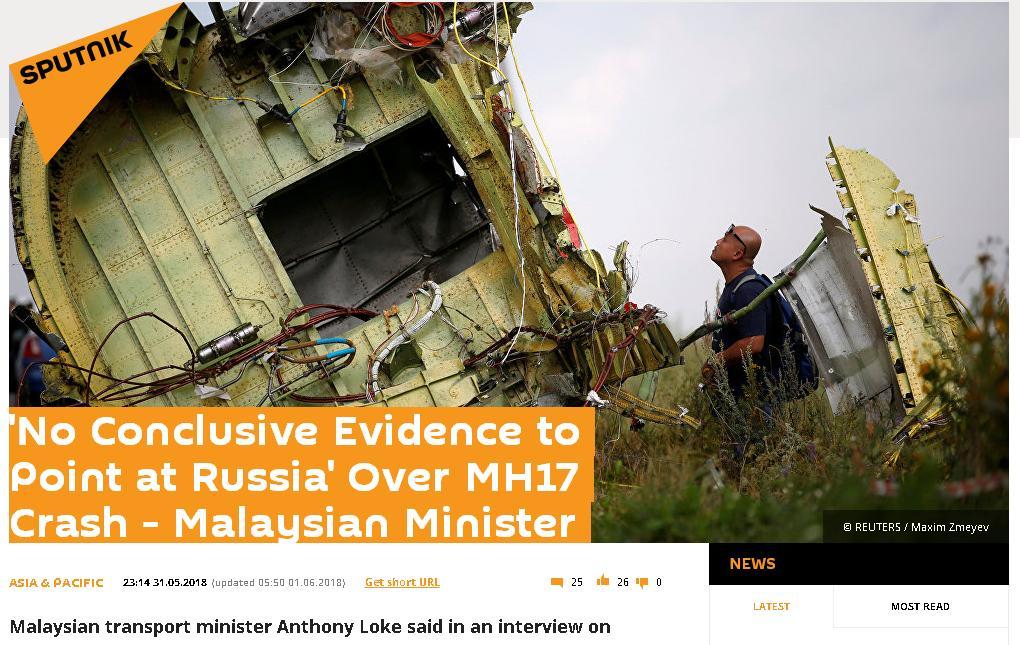 sputnik fake mh17