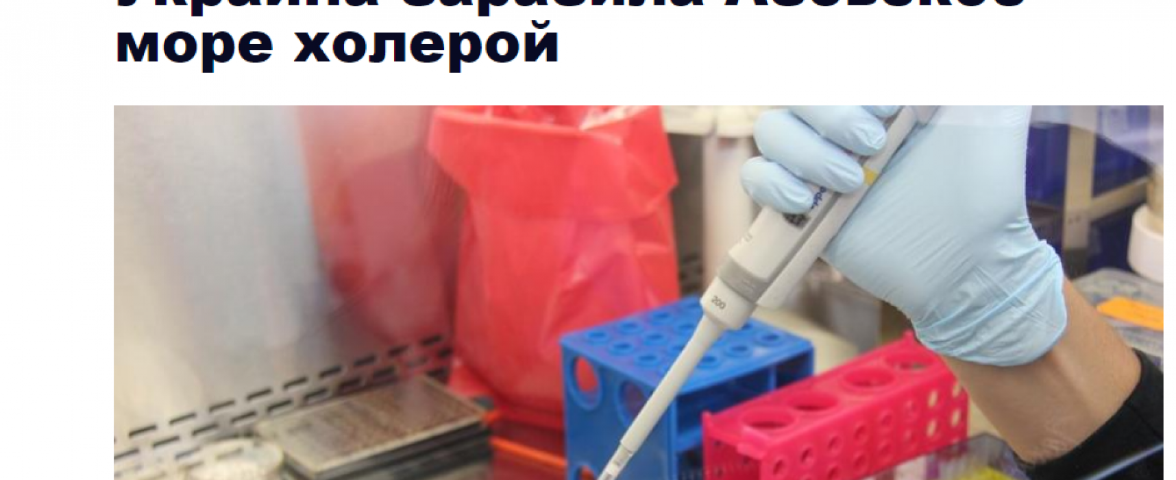 Fake: Cholera Found in the Azov Sea