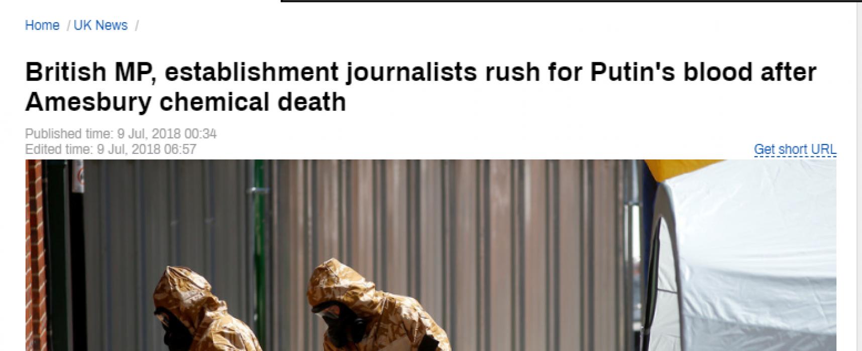 Las negaciones de Rusia envenenan la atmósfera después de que una mujer británica muere de Novichok