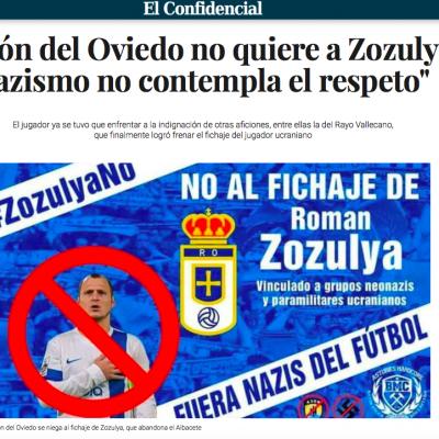 """El futbolista ucraniano Zozulya de nuevo está implicado en especulaciones que lo tildan de """"nazi"""" por los medios españoles"""