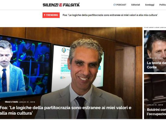 La società svizzera di Marcello Foa ha collaborato con il sito vicino ai M5S Silenzi e Falsità