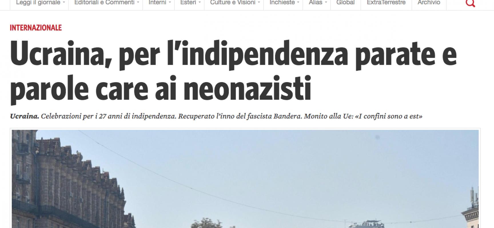 Fake : Manifesto, Slava Ucraina slogan nazista