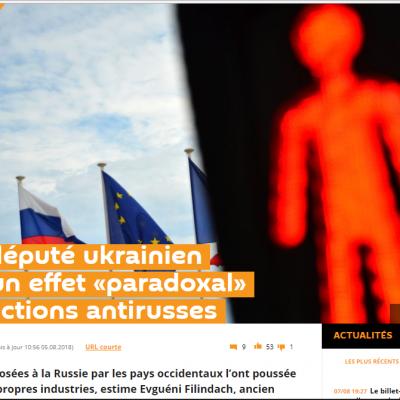 Фейк: Антироссийские санкции укрепляют Россию, вместо того, чтобы ослаблять