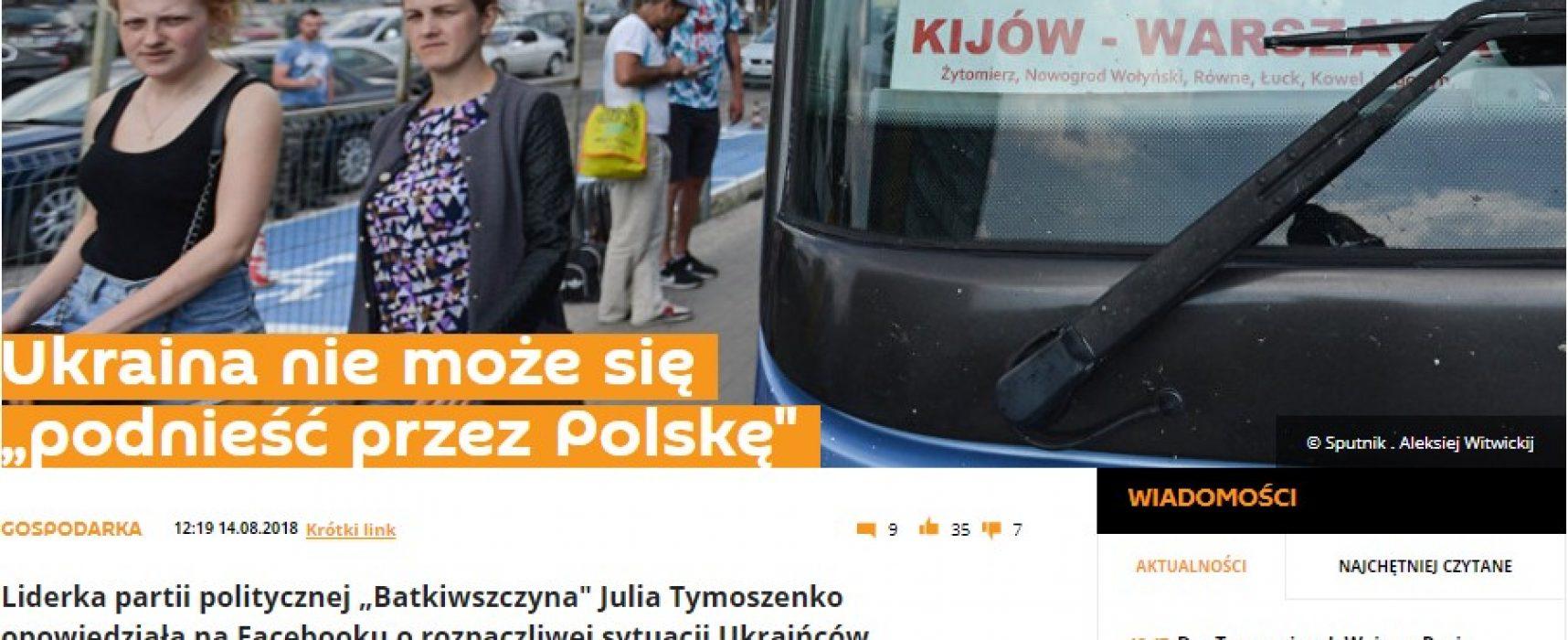 Манипуляция «Спутника»: являются ли украинцы в Польше рабами?