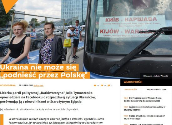 """Sputnik's"" manipulation: Are Ukrainians in Poland slaves?"