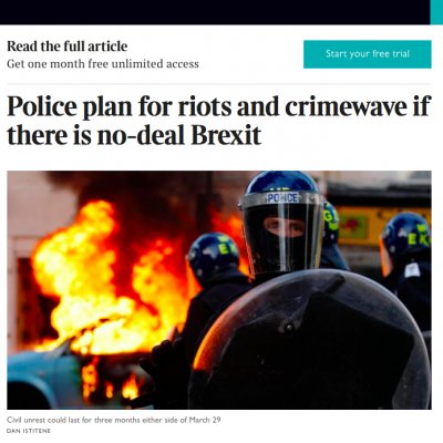 Fake: British Authorities Preparing Anti-Terrorist Operation for Brexit