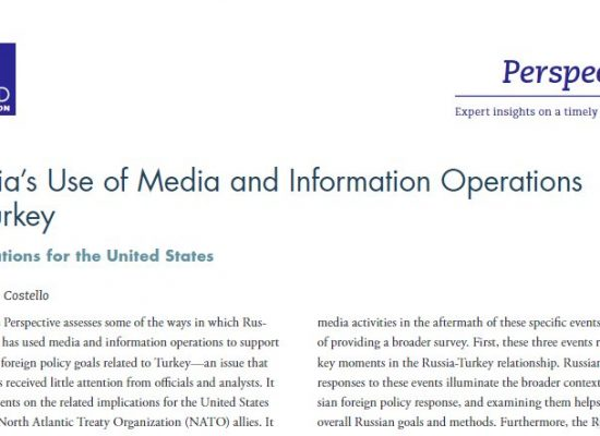 Russia's Use of Media and Information Operations in Turkey