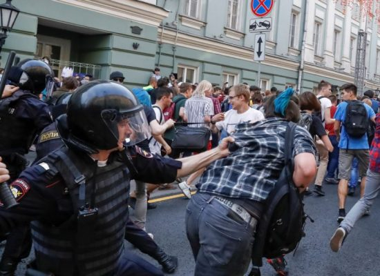 Russian Police Say the Election Day Was 'Calmest,' After Clamping Down on Country-wide Protests