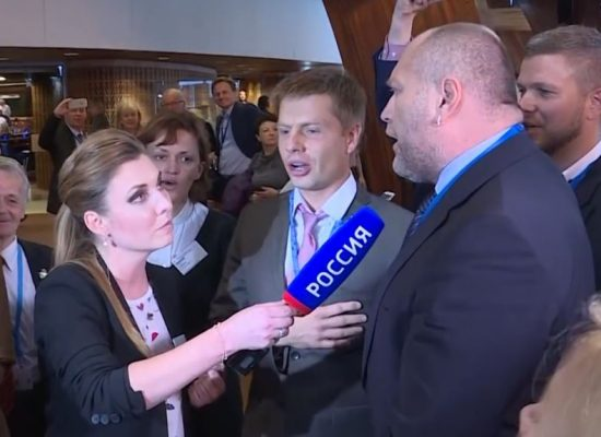 Russian reporter fibs about Ukrainian delegation at the Council of Europe