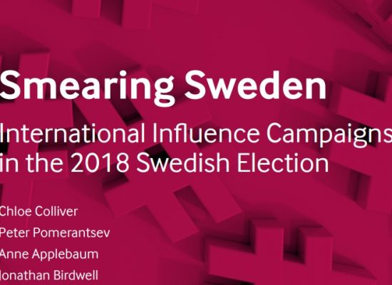 Smearing Sweden: International Influence Campaigns in the 2018 Swedish Election