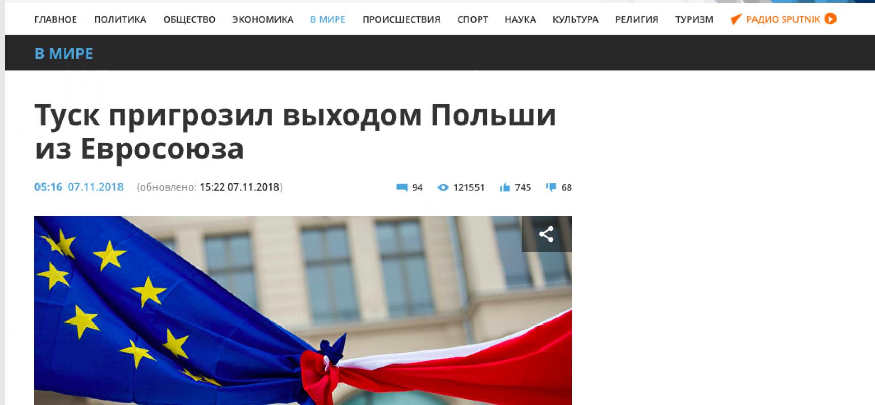 Fake: La Polonia si ritira dall'Unione Europea