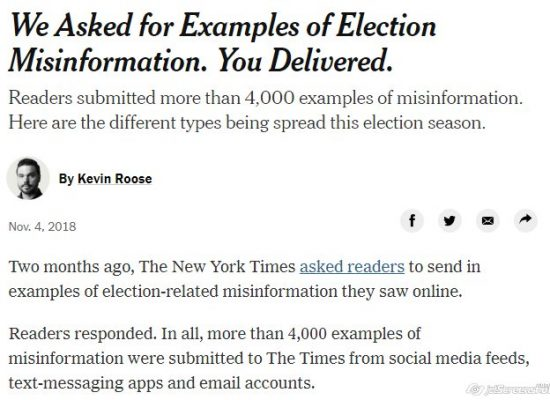 The New York Times asked for examples of election disinformation — and got 4,000 responses