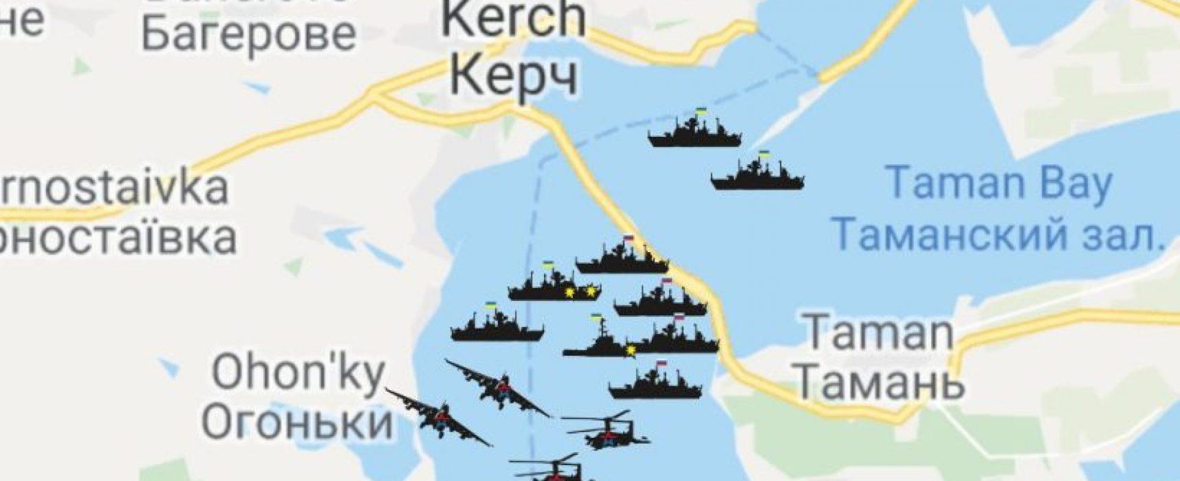 La desinformación de Kremlin sobre los acontecimientos del estrecho de Kerch