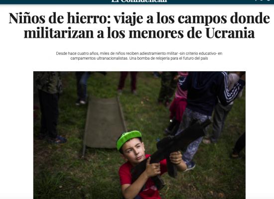 """""""Niños de hierro"""": ¿cómo la prensa española difunde falsedades sobre los campamentos patrióticos de Ucrania?"""