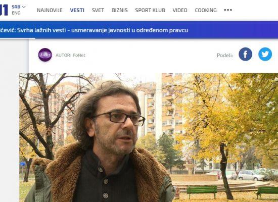 Pavićević: Svrha lažnih vesti – usmeravanje javnosti u određenom pravcu