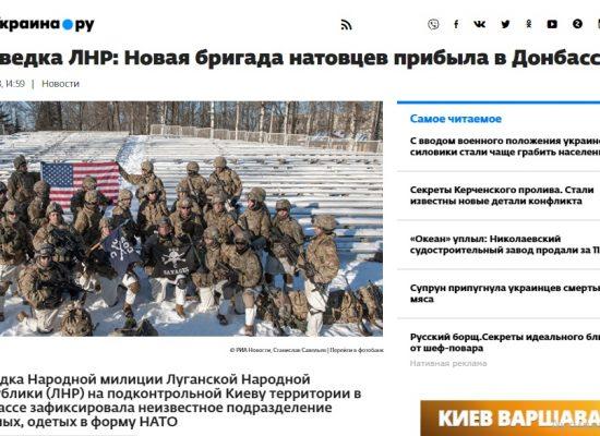 Fake: Una nuova brigata della NATO è arrivata nel Donbas