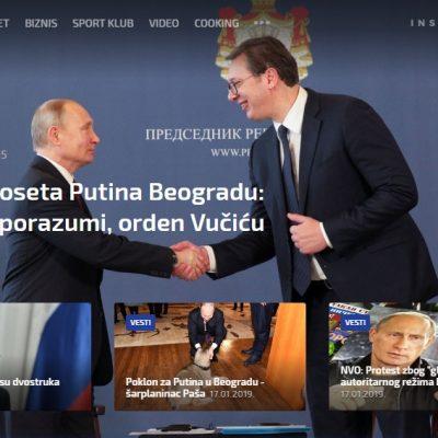 Sve o poseti Putina Srbiji