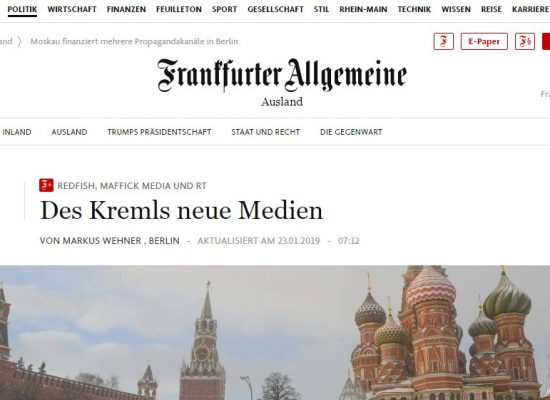 Кремль активизировал новые пропагандистские СМИ в Германии
