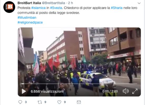 Fake: Islamici chiedono l'introduzione della Sharia in Svezia
