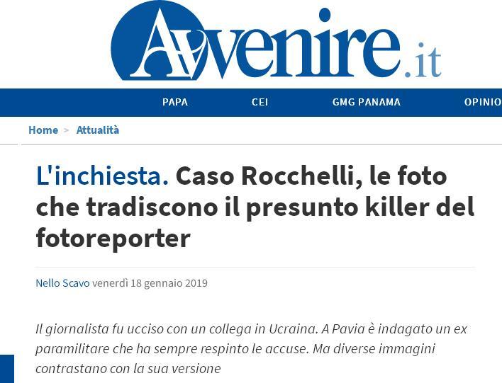 Fake avvenire Rocchelli