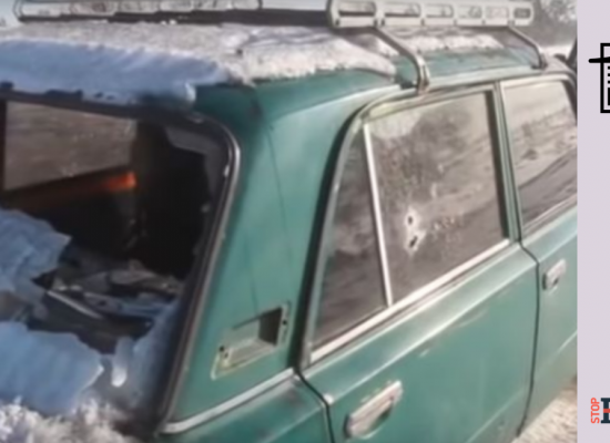 Fake: Ukrainian Military Fire on Civilian Vehicles in Donbas