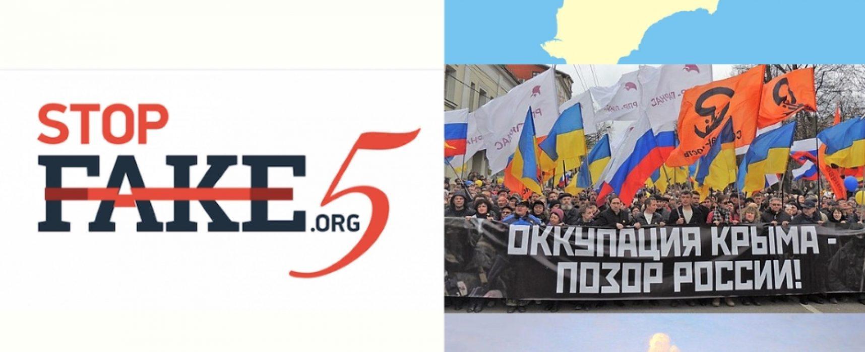 TOP-10 fakes de la desinformación pro-Kremlin sobre Crimea en los últimos 5 años