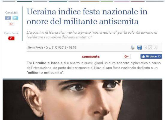 Disinformation: Ucraina indice festa nazionale in onore del militante antisemita