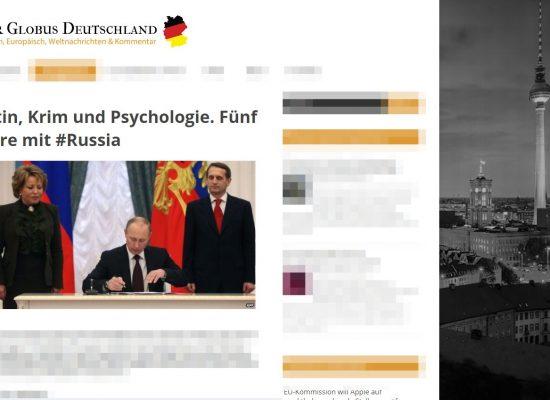 РІА «Новости» повідомило про німецькі ЗМІ, в яких розвиток Криму викликає захват. «Німецькі ЗМІ» виявилися липовим сайтом