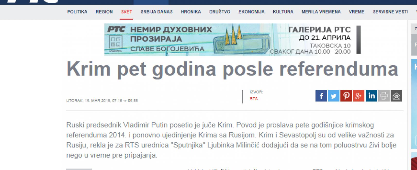 Krim: 5 godina okupacije i dezinformacije
