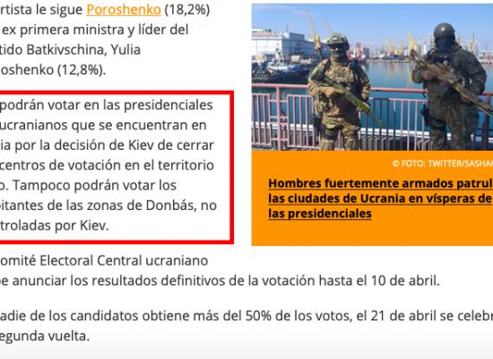 Falso: Los habitantes de los territorios ocupados de Ucrania no podrán votar en las elecciones presidenciales