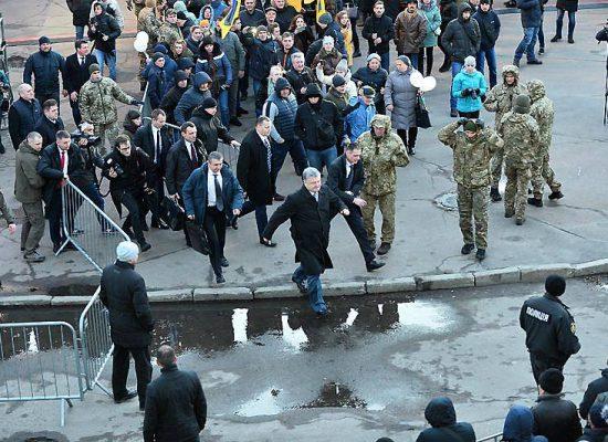 """Manipolazione delle immagini e disinformazione – """"Poroshenko scappa a Zhytomir"""""""