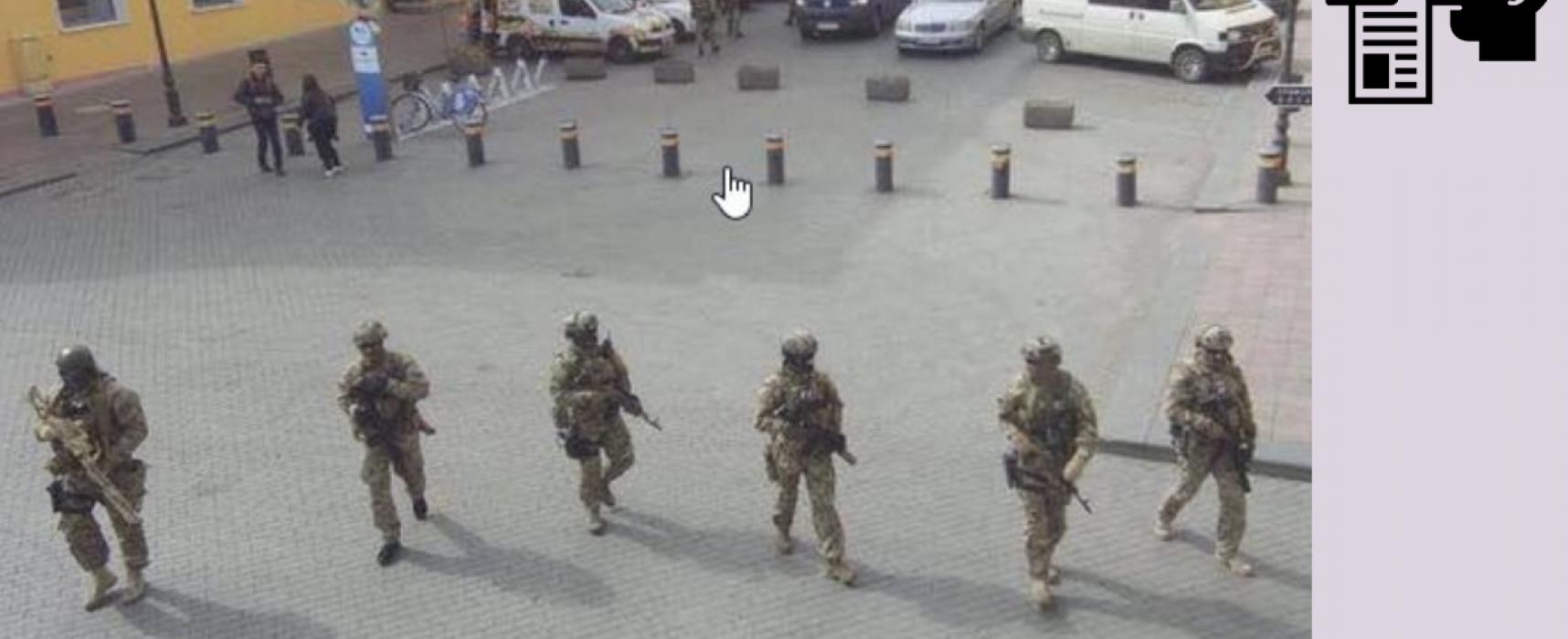 Fake: Ukrainians Voting at Gunpoint