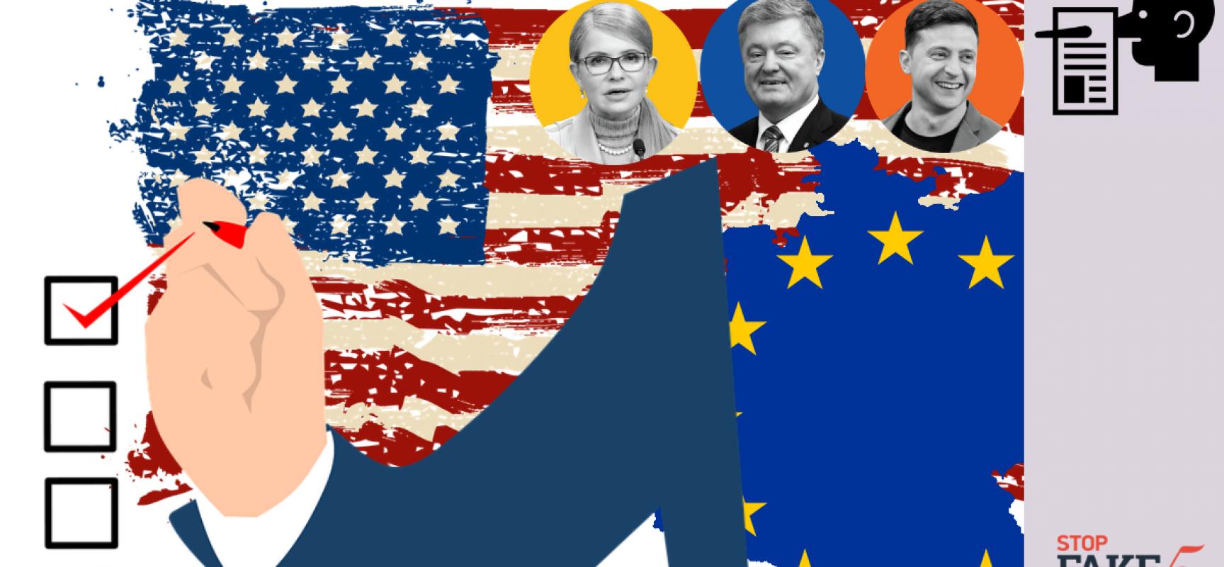 Falso: EE.UU. y la UE dirigen las elecciones presidenciales de Ucrania