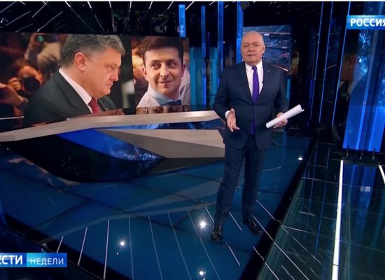 Фейк Дмитрия Киселева: Порошенко украл у Тимошенко второе место в первом туре выборов