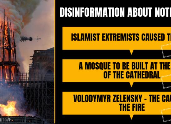 Building blocks of disinformation: Case of Notre Dame