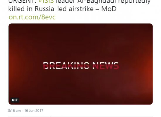 Russia Today e la morte di Al Baghdadi