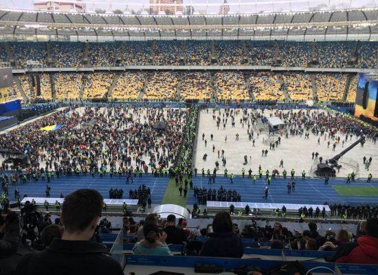 Elezioni Ucraina: il confronto allo stadio