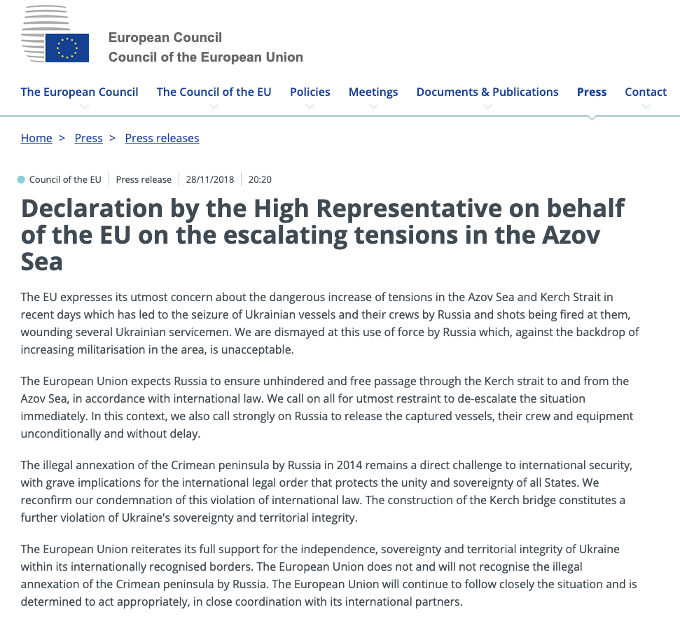 Screenshot consilium.europa.eu