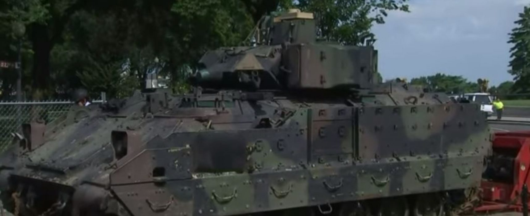 Russian media reported 'rusty' tanks displayed in Washington, DC on July 4