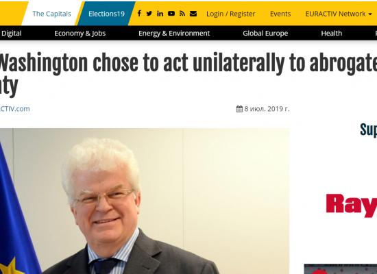 O czym kłamią rosyjscy dyplomaci: wywiad z Władimirem Czyżowem dla Euractiv