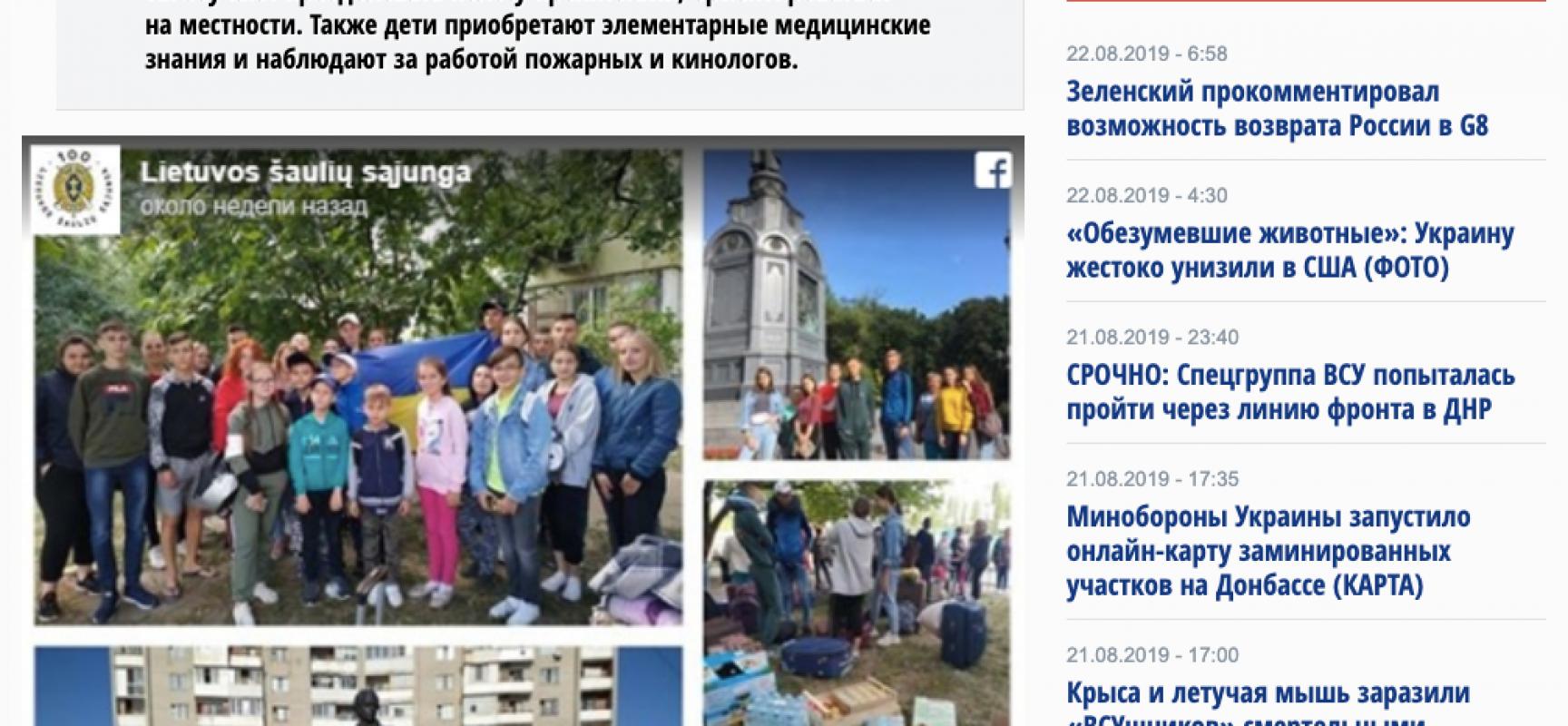 Fake: bambini ucraini addestrati alla guerra in Lituania