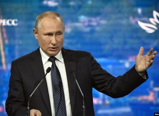 Putin repeats false narratives on Ukraine at Eastern Economic Forum