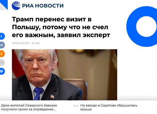 Fake: Russland wird wegen Russlandhaß nicht zu Weltkriegsgedenken nach Polen eingeladen
