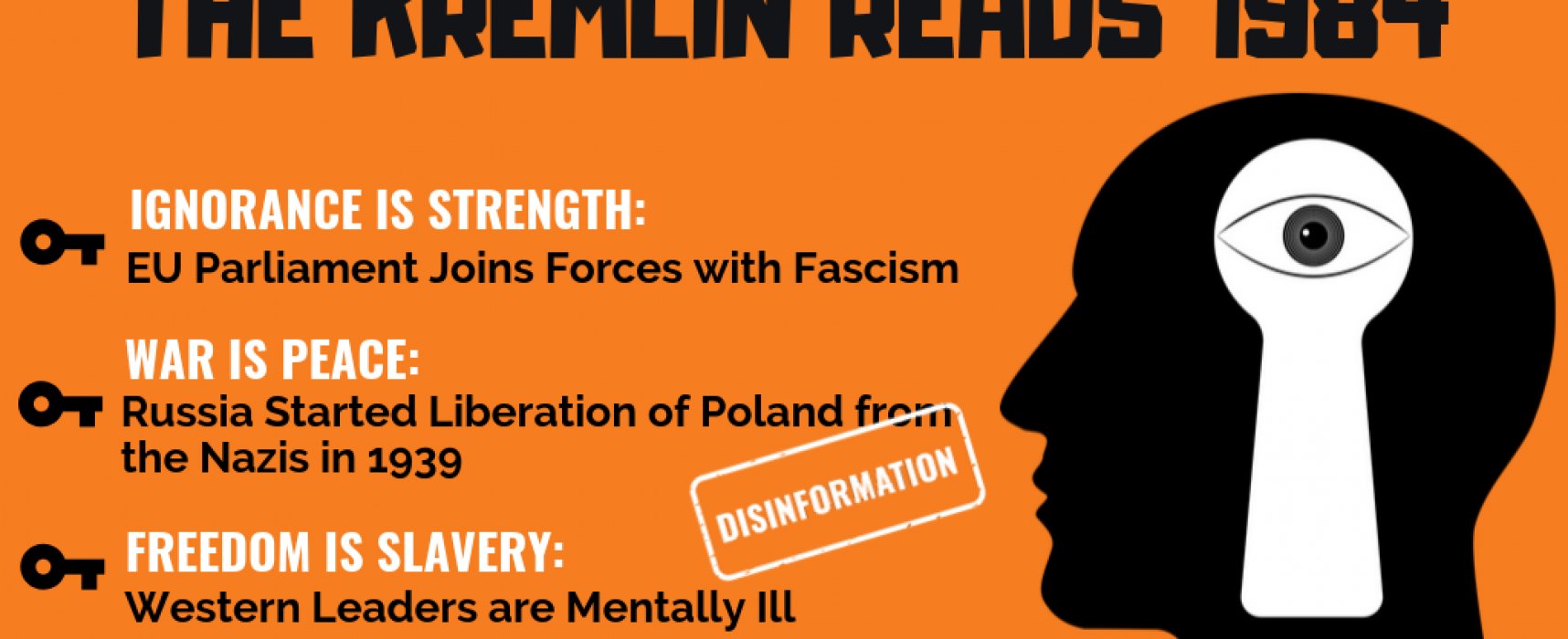 The Kremlin Reads Nineteen Eighty-Four: Disinformation is Truth