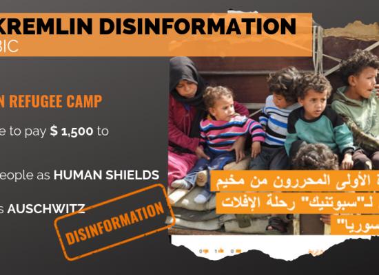 """Sputnik and RT manipulation in Arabic: Al Rukban as a """"Nazi Camp"""""""