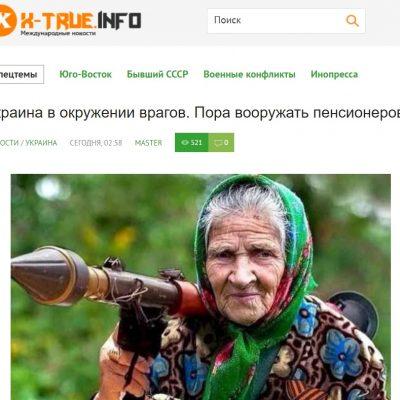 Manipulation: Les «mamies» ukrainiennes doivent s'équiper de mitraillettes pour contribuer à la protection de leur pays contre la Russie