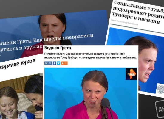 """Prokremelská média o Gretě Thunberg: """"Nevzdělaná fanatická mesiáška"""""""