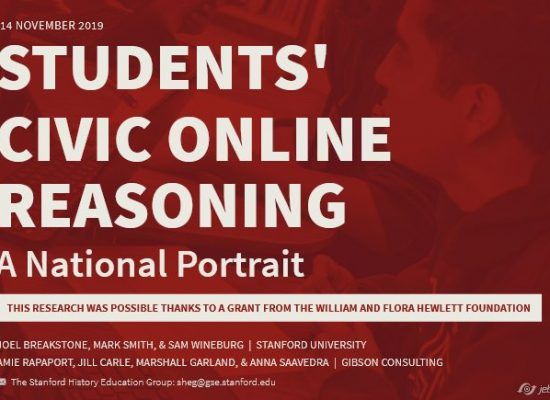 Students' civic online reasoning: a national portrait