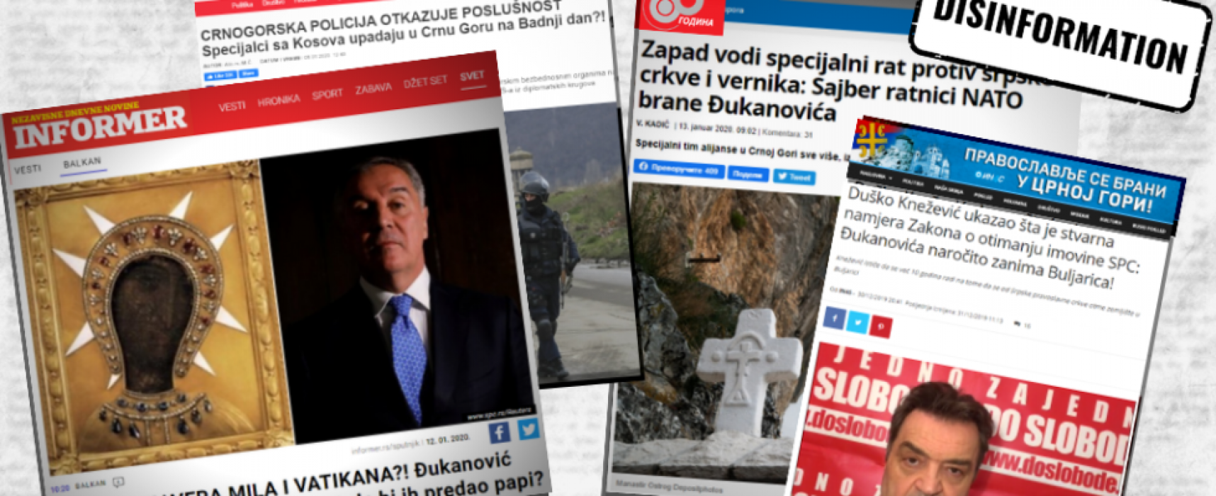 Disinformation sharpened tensions between Serbia and Montenegro