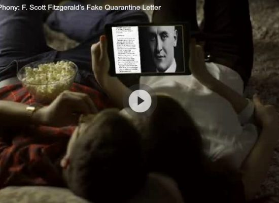 The great phony: F. Scott Fitzgerald's fake quarantine letter